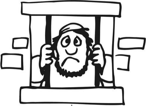 coloring pages joseph in jail - photo#31