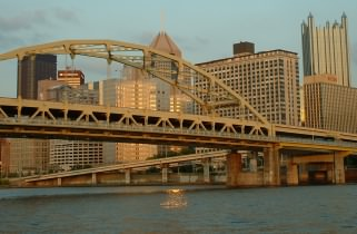 Pittsburgh bridge over the allegheny river