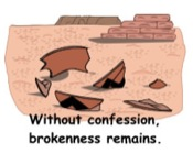 Brokenness before confession